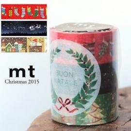 masking tape Christmas 2015 set C (Noël 2015) 3*20mm*7m