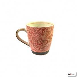 Mug KARAKUSA rouge en porcelaine japonaise