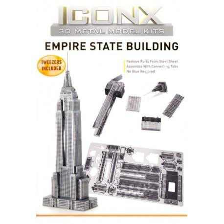 Miniature à monter en métal EMPiRE STATE BUiLdiNG (h12cm)