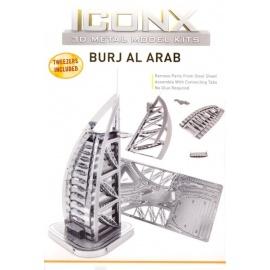 Miniature à monter en métal BURj AL ARAb (h12cm)