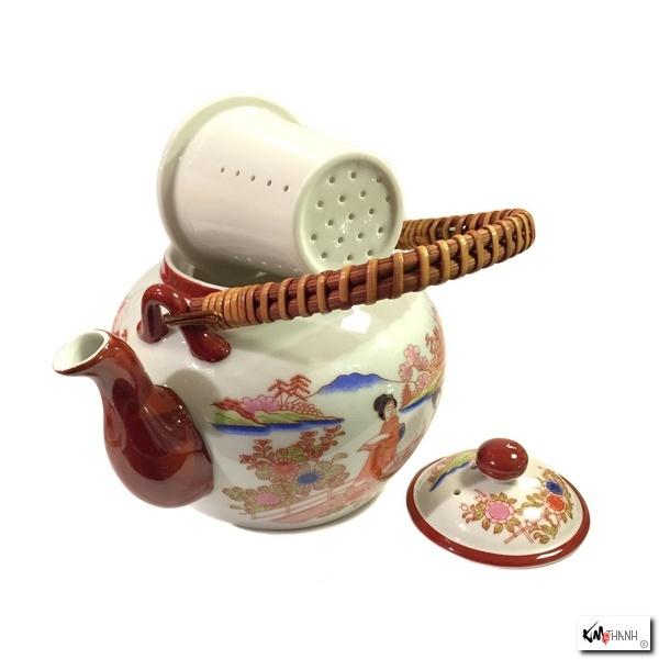 th i re avec filtre en porcelaine japonaise bishu kim thanh. Black Bedroom Furniture Sets. Home Design Ideas