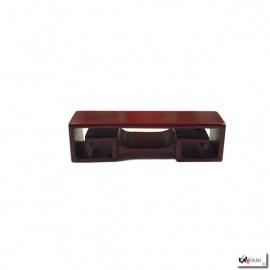 Support rectangulaire en bois de rose L11*h3*p3cm