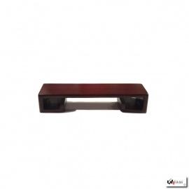 Support rectangulaire en bois de rose L9.5*h2*p3cm