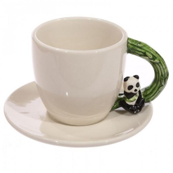 tasse caf anse panda en porcelaine kim thanh. Black Bedroom Furniture Sets. Home Design Ideas