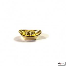Lingot d'or doré en métal (L2cm)