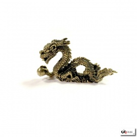 Dragon sur nuage en laiton (L5cm)
