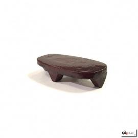 Socle ovale en bois verni L9xp4.2cm
