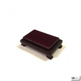 Socle rectangulaire en bois verni L7x4.5cm