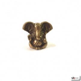 Ganesh assis en laiton doré (h4.5cm)
