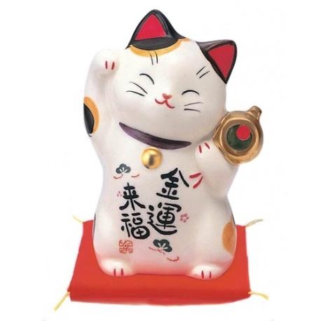 Maneki Neko GRANdE FORTUNE en porcelaine japonaise (h12cm)