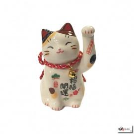 Maneki Neko ChANCE MiKé en porcelaine japonaise (h7cm)