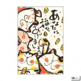 Carte MANEKI NEKO le temps des bonheurs (10x15cm)