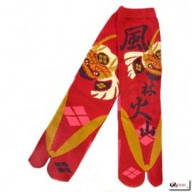 Chaussettes à orteil japonaises KAbUTO (兜) rouge (extensible t34 à t39)