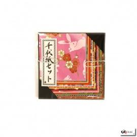 Papier origami 20 feuilles 6x6cm assortis