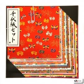 Papier origami 20 feuilles 15x15cm assortis