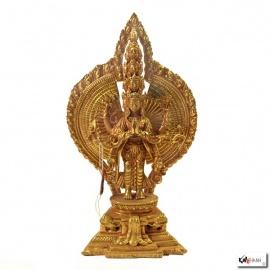 Avalokiteshvara en cuivre (h15cm)