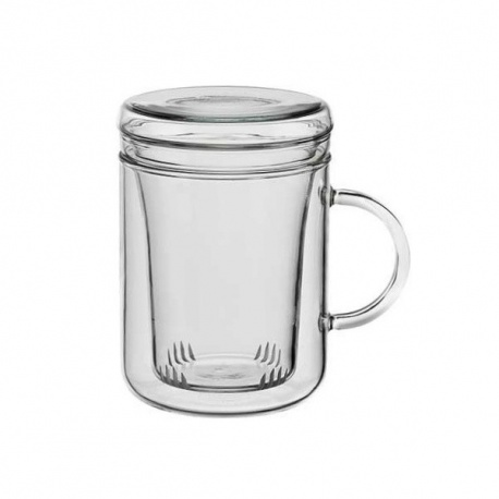Tisanière & filtre en verre 0.35L