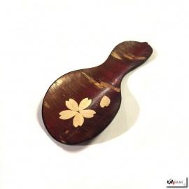 Cuillère à thé en écorce de cerisier HYOTAN 瓢箪 incrusté (Santé et Protection)