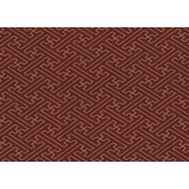 Tissus au mètre SAYA rouge 100% coton (Japon)