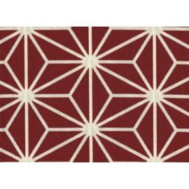 Tissus au mètre ASANOhA BiG rouge 100% coton (Japon)