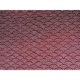 Tissus au mètre SEiGAihA rouge 100% coton (Japon)