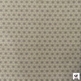 Tissus au mètre ASANOhA S beige 100% coton (Japon)