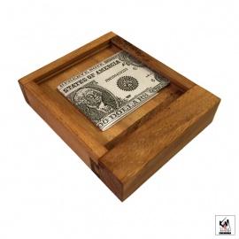 Casse-tête en bois COFFRE FORT (11.8cm)