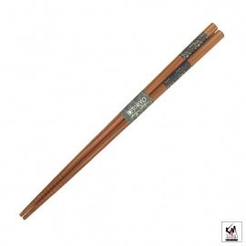 Baguettes japonaises en bambou AiZOME AKA-ASA 21cm