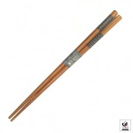 Baguettes japonaises en bambou AiZOME KiKKU 21cm