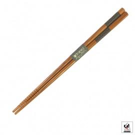 Baguettes japonaises en bambou AiZOME SEiGAihA 21cm