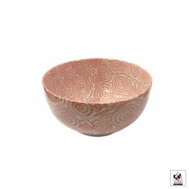 Bol à soupe en porcelaine japonaise KARAKUSA rouge (d16cm)