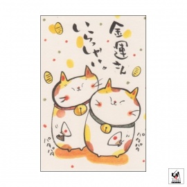 Carte MANEKI NEKO Bonne Fortune (10x15cm)