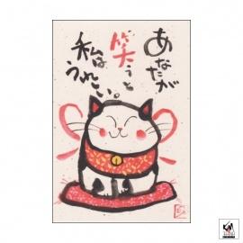 Carte MANEKI NEKO Rire (10x15cm)