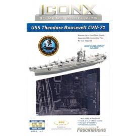 Miniature à monter en métal USS ThEOdORE ROOSEVELT CVN-71 (L20.3cm)