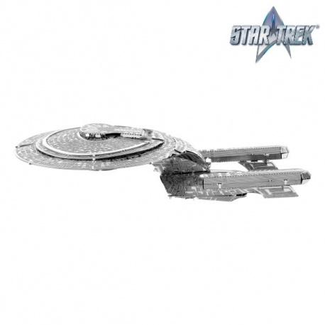 Miniature à monter en métal Star Trek U.S.S ENTERPRiSE NCC-1701-D (1987) (L12.7cm)