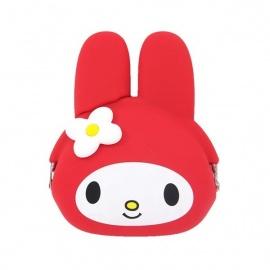 Porte-monnaie mimi POCHi Friends MY MELOdY rouge en silicone