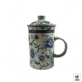 Tisanière & filtre en porcelaine PiVOiNES