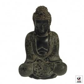 Bouddha de KAMAKURA en résine antique (h15cm)