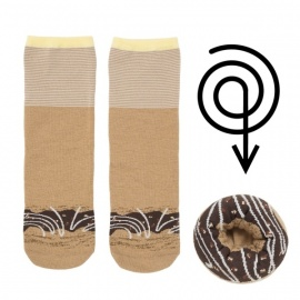 Doughnut Socks Chocolate Glazed
