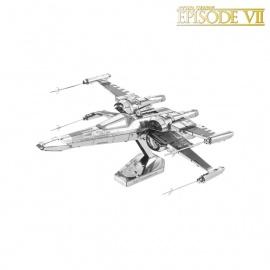 Miniature à monter en métal Star Wars X-WiNG de POE DAMERON (h10cm)