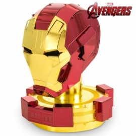 Miniature à monter en métal Avengers® CASQUE d'iRON MAN (h6.2cm)