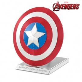 Miniature à monter en métal Avengers BOUCLiER de CAPTAiN AMéRiCA (h5.8cm)