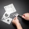 Miniature à monter en métal Batman BATMObiLE 1966 (L8.9cm)