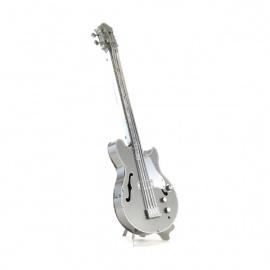 Miniature à monter en métal instrument de musique GUiTARE BASSE ELECTRiQUE (h11.6cm)
