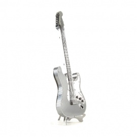 Miniature à monter en métal instrument de musique GUiTARE ELECTRiQUE (h11.4cm)