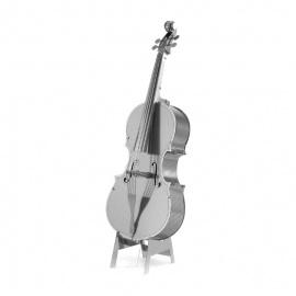 Miniature à monter en métal instrument de musique CONTREBASSE (h11.7cm)