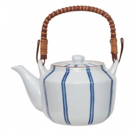 Théière en porcelaine japonaise BLUE LiNES 1L20