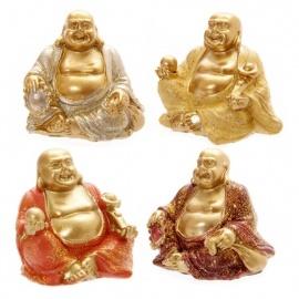Bouddha Hotei (Prospérité) en résine pailleté (h4.5cm)