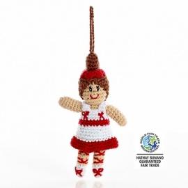 Peluche mini BALLERiNE en crochet fait main 100% coton (h16cm)