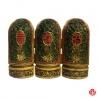 Triptique 3 Dieux du Bonheur (Prospérité 福, Richesse 禄, Longévité_壽) en résine peint à la main (h14.5cm)